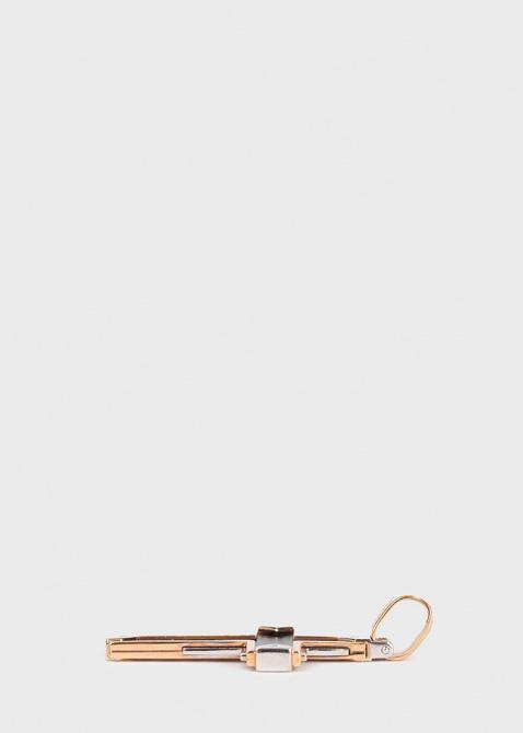 Мужской крест-подвеска Baraka Fiber из розового и белого золота, фото
