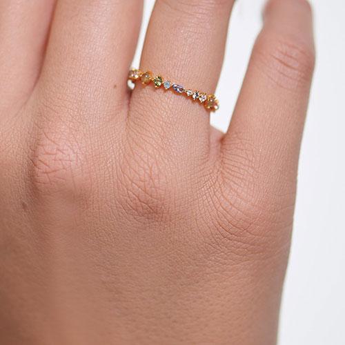 Кольцо P D Paola Atelier Papillon с камнями и позолотой, фото