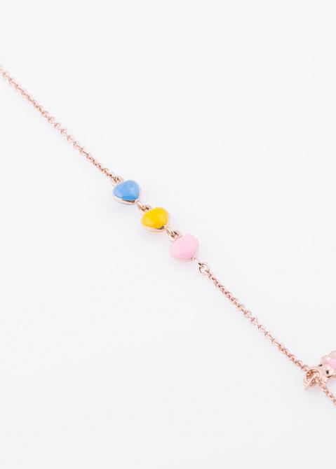 Золотой браслет с цветной эмалью, фото