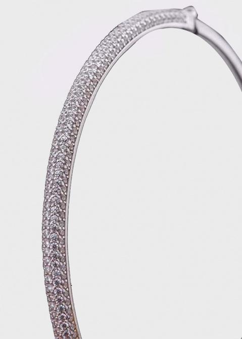 Золотой браслет с россыпью из фианитов, фото