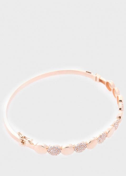 Золотой браслет с белыми фианитами, фото