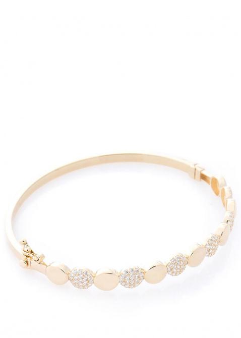 Женский браслет из желтого золота с камнями, фото