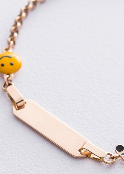 Браслет из золота с пластиной под гравировку, фото