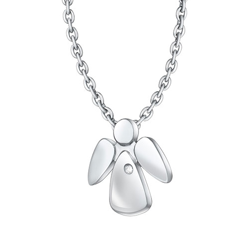 Подвеска с цепочкой Art Vivace Jewelry Bу my angel с бриллиантом, фото