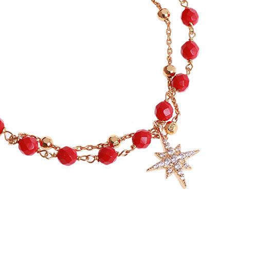 Серебряный браслет Misis Stella с подвеской в виде звезды, фото