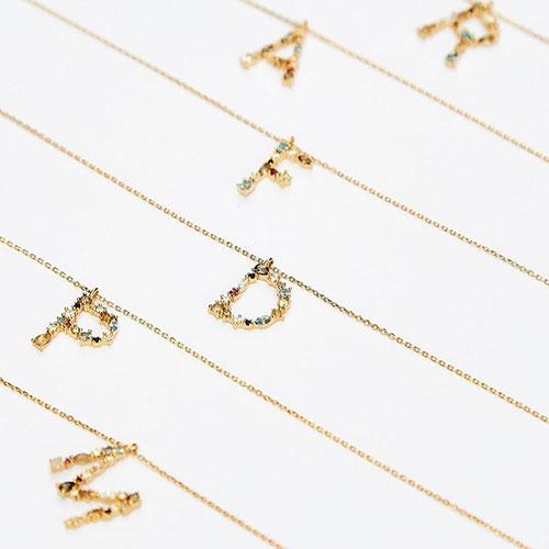 Женское колье P D Paola Letters с буквой M, фото
