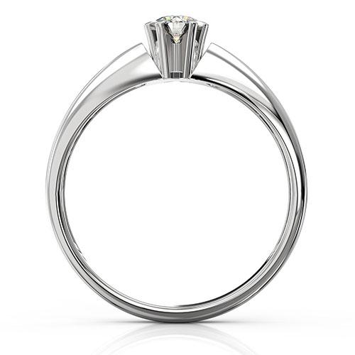 Кольцо из белого золота с бриллиантом, фото