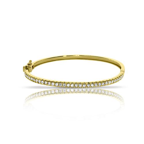 Браслет из желтого золота с бриллиантами, фото