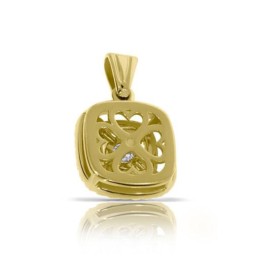 Кулон из желтого золота с бриллиантами, фото