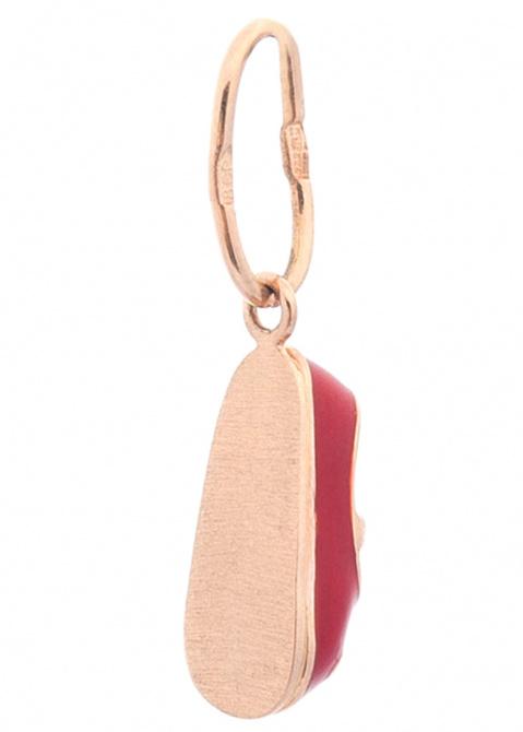 Золотая подвеска Туфелька с эмалью, фото