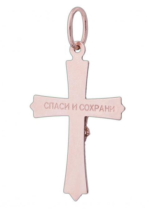 Золотой крест с фианитом, фото
