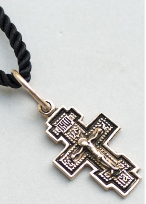 Православный крестик с чернением, фото