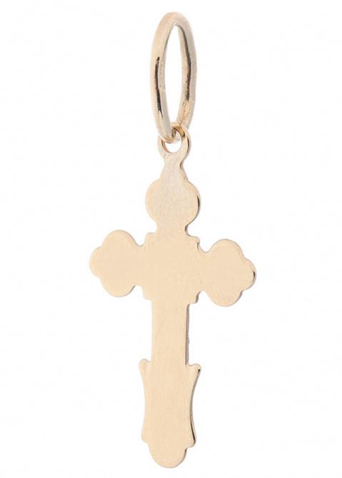 Золотой крестик с алмазной гранью, фото