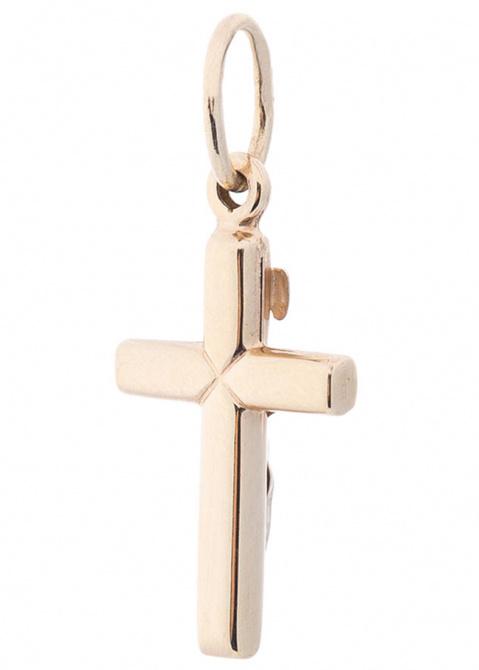 Крестик в комбинированном цвете золота, фото