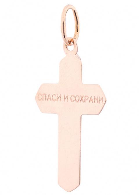Золотой подвес в форме крестика, фото