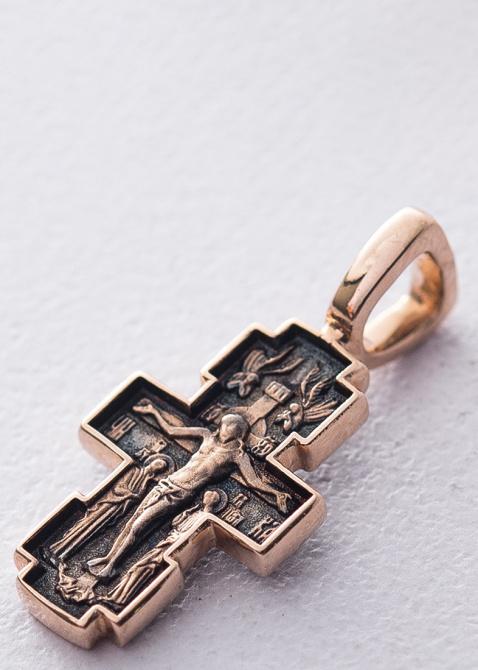 Восьмиконечный крест Млекопитательница из золота, фото