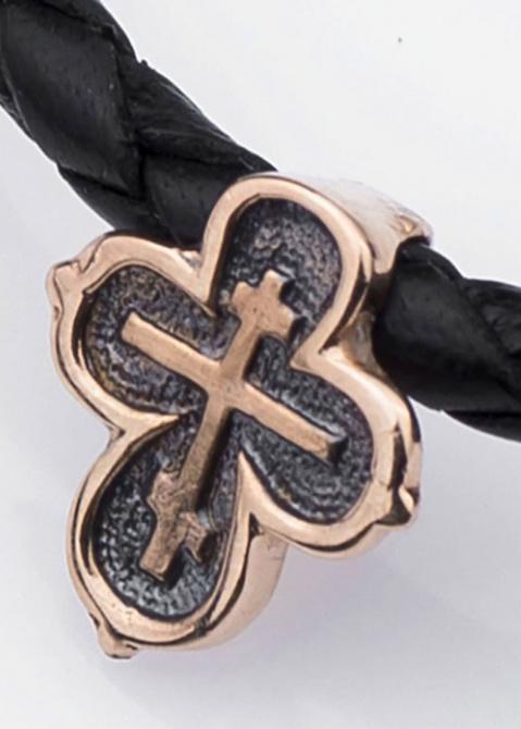 Золотой крестик со скрытым ушком, фото