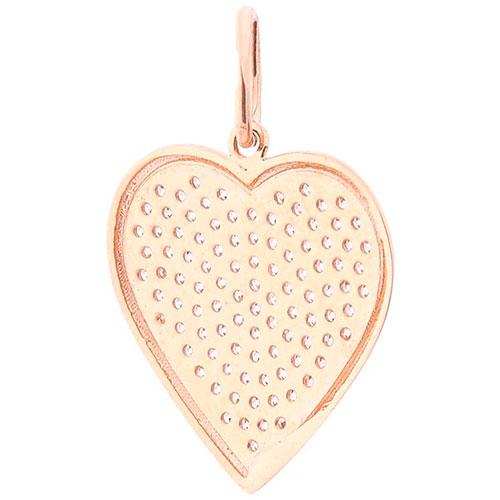 Кулон-сердце с белыми фианитами, фото