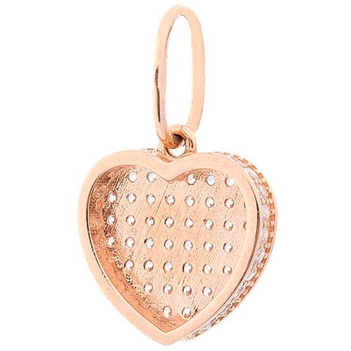 Подвеска из золота в форме сердца, фото
