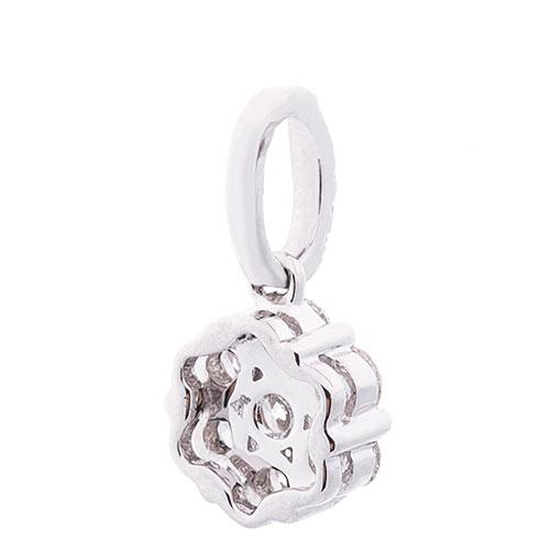 Золотая подвеска Цветочек с бриллиантами, фото