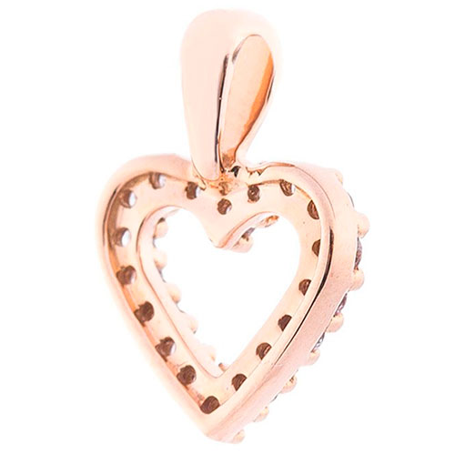 Кулон-сердце с бриллиантами, фото