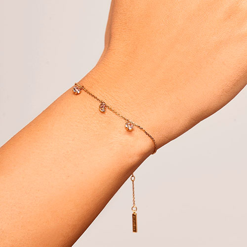 Позолоченный браслет P D Paola Electra Halley с подвесками в форме звезд, фото