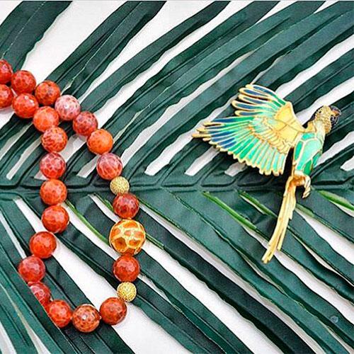 Брошь Misis Jungle Tiara в форме попугая, фото