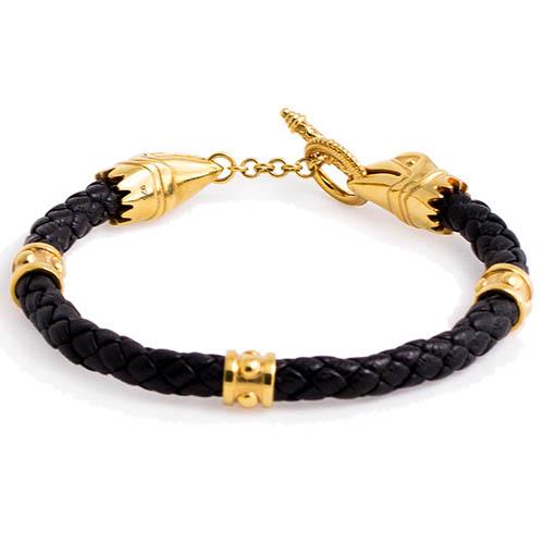 Браслет TOTEM Adventure Jewelry Crixus Gold с позолочеными застежками, фото