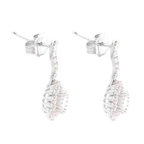 Серебряные серьги Parure Milano Silver с цирконами, фото