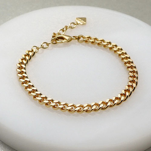 Золотистый браслет Wanderlust + Co Chain Story Romee XL Curb Chain, фото