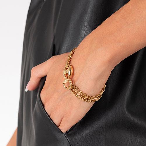 Золотой браслет Gucci Marina Chain с несколькими цепными рядами, фото