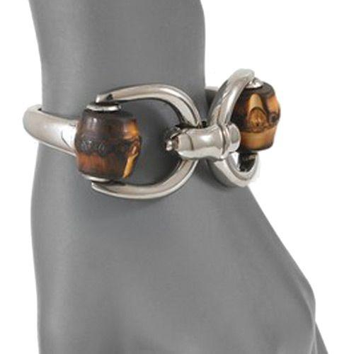 Браслет Gucci из серебра Bamboo horsebit, фото