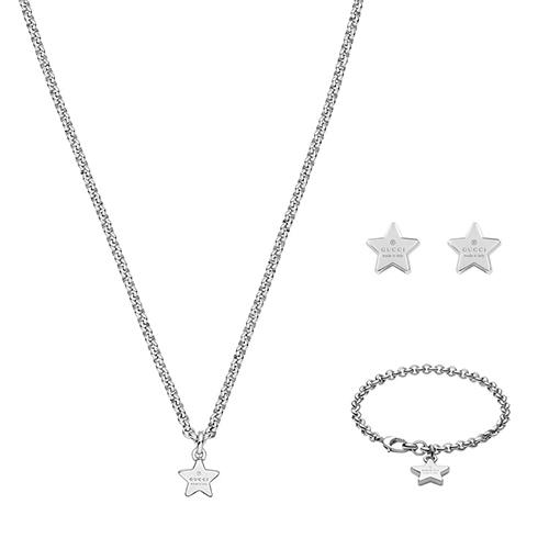 Браслет-цепочка Gucci Trademark из серебра с подвеской-звездой, фото