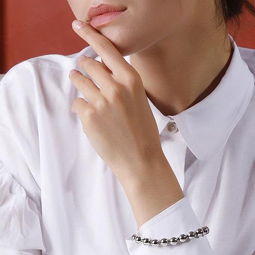 Серебряный браслет Gucci Boule Britt с бусинами, фото