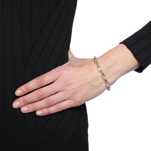Тонкий браслет-цепочка Gucci Charms из стерлингового серебра, фото