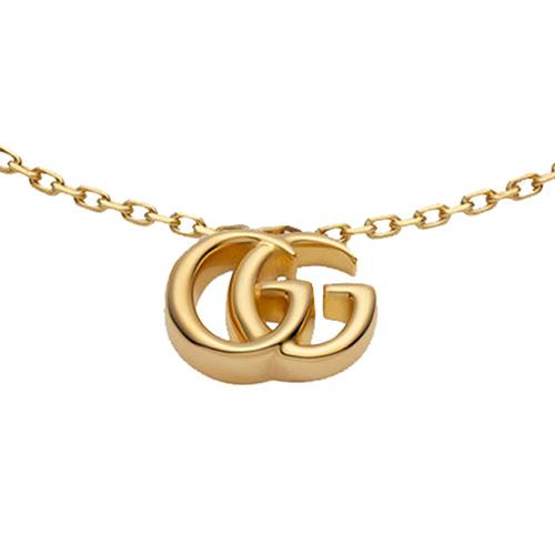 Золотой браслет Gucci Running G с подвеской на тонкой цепочке, фото