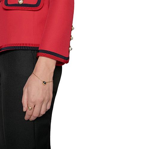 Браслет Gucci Le Marche des Merveilles с подвеской, бриллиантами и черным ониксом, фото