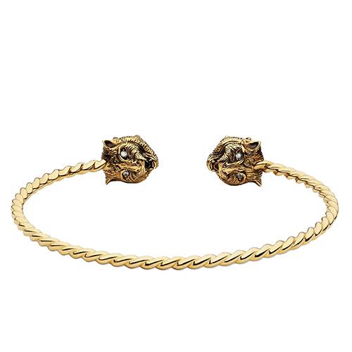 Витой браслет-кафф Gucci Le Marche des Merveilles с бериллом и турмалином, фото