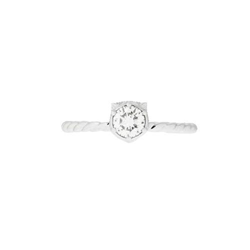 Кольцо  Gucci Le Marche des Merveilles из белого золота с алмазом по центру, фото