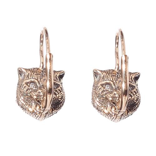 Золотые серьги Gucci Le Marche des Merveilles c бриллиантами и бирюзой, фото
