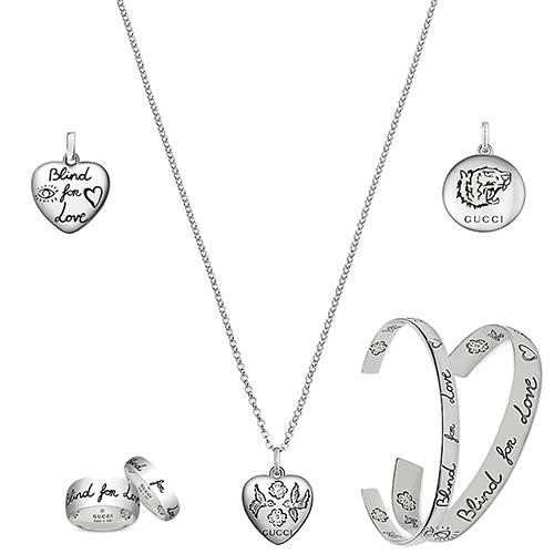 Круглый кулон Gucci Blind for love из серебра с гравированной головой тигра, фото