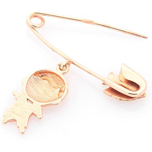 Булавка с подвеской из золота с эмалью, фото