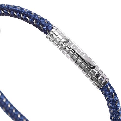 Плетеный браслет Zeades со стальным декором, фото