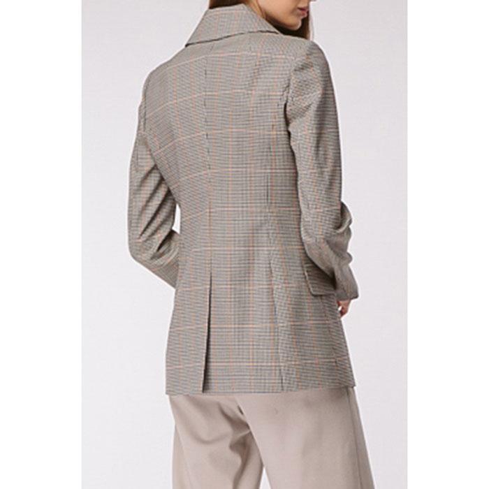 Серый пиджак Shako двубортный в клетку
