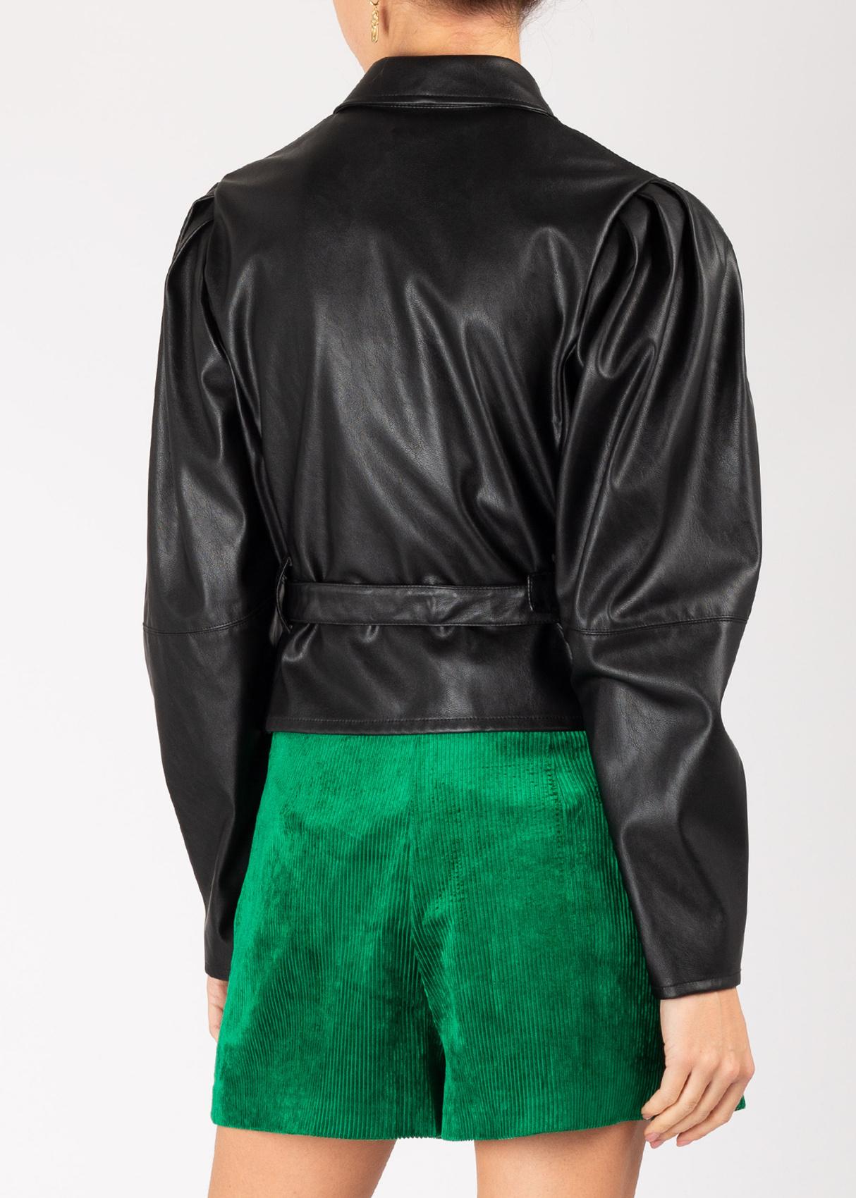 Жакет Pinko черного цвета из искусственой кожи