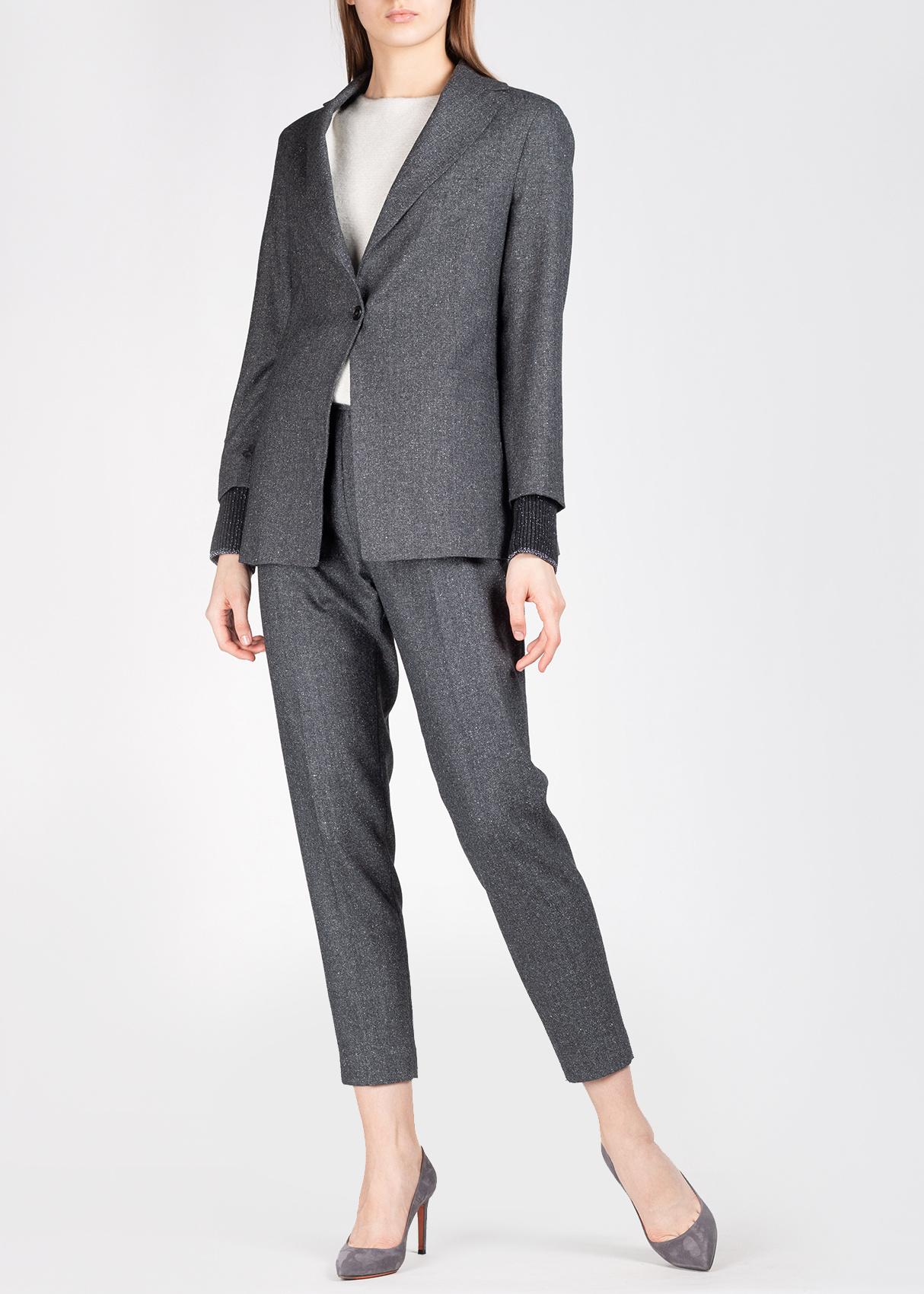 Однобортный пиджак Fabiana Filippi с трикотажными рукавами