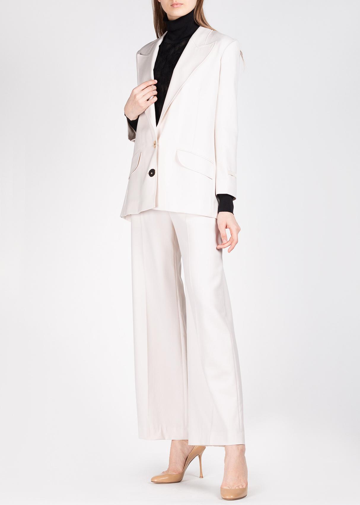 Шерстяной пиджак Patou молочного цвета