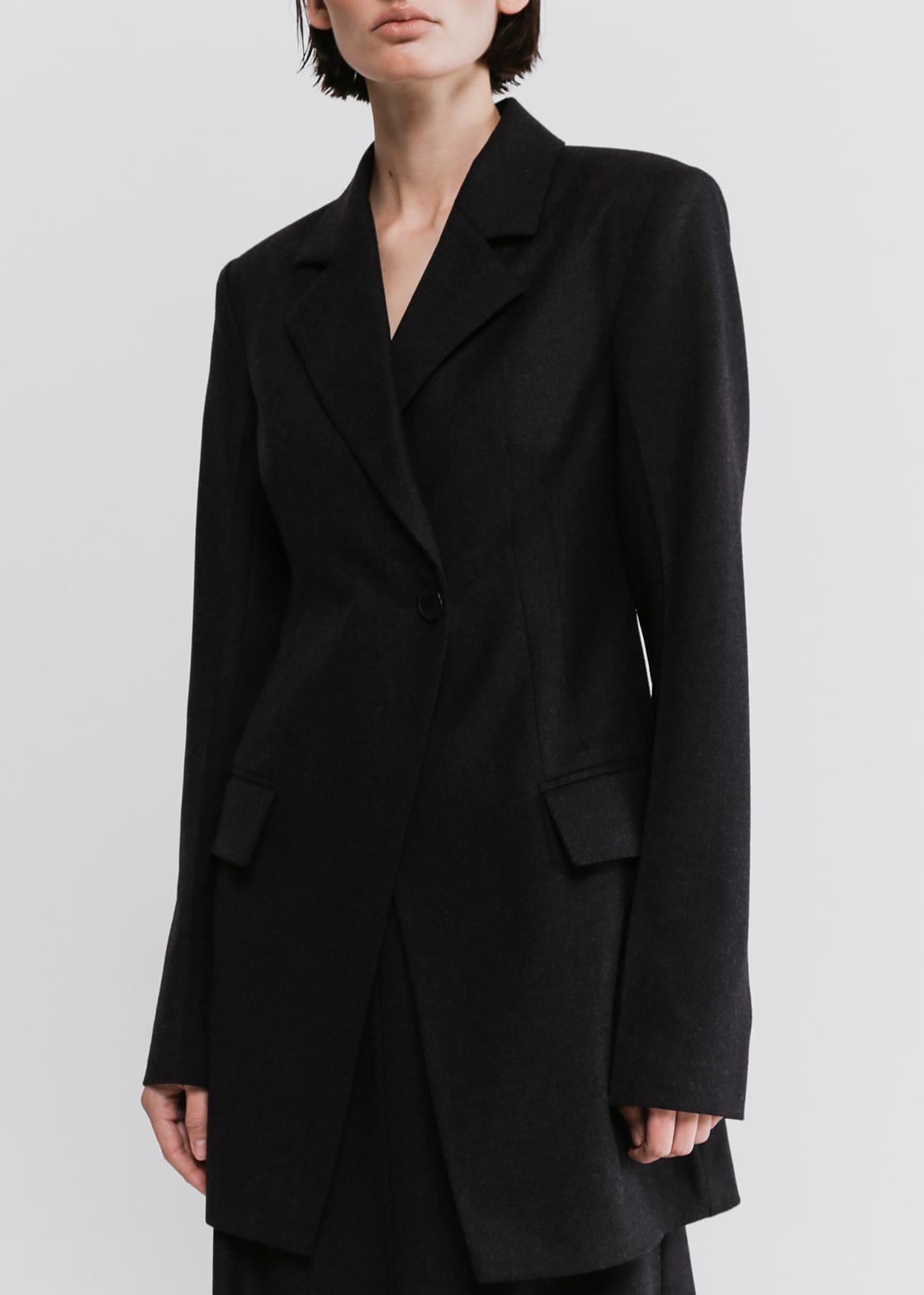 Приталенный пиджак Shako темно-серого цвета