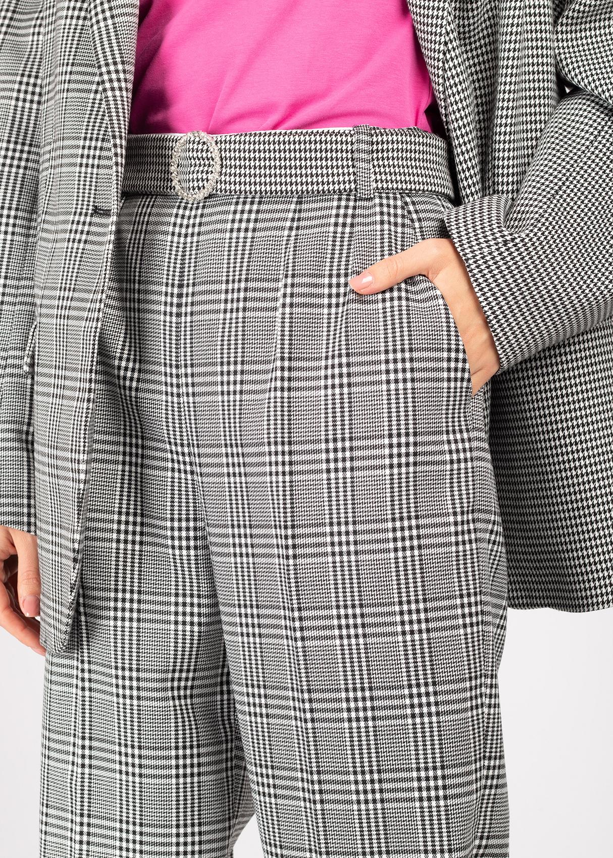 Клетчатый костюм Forte Dei Marmi Couture серого цвета