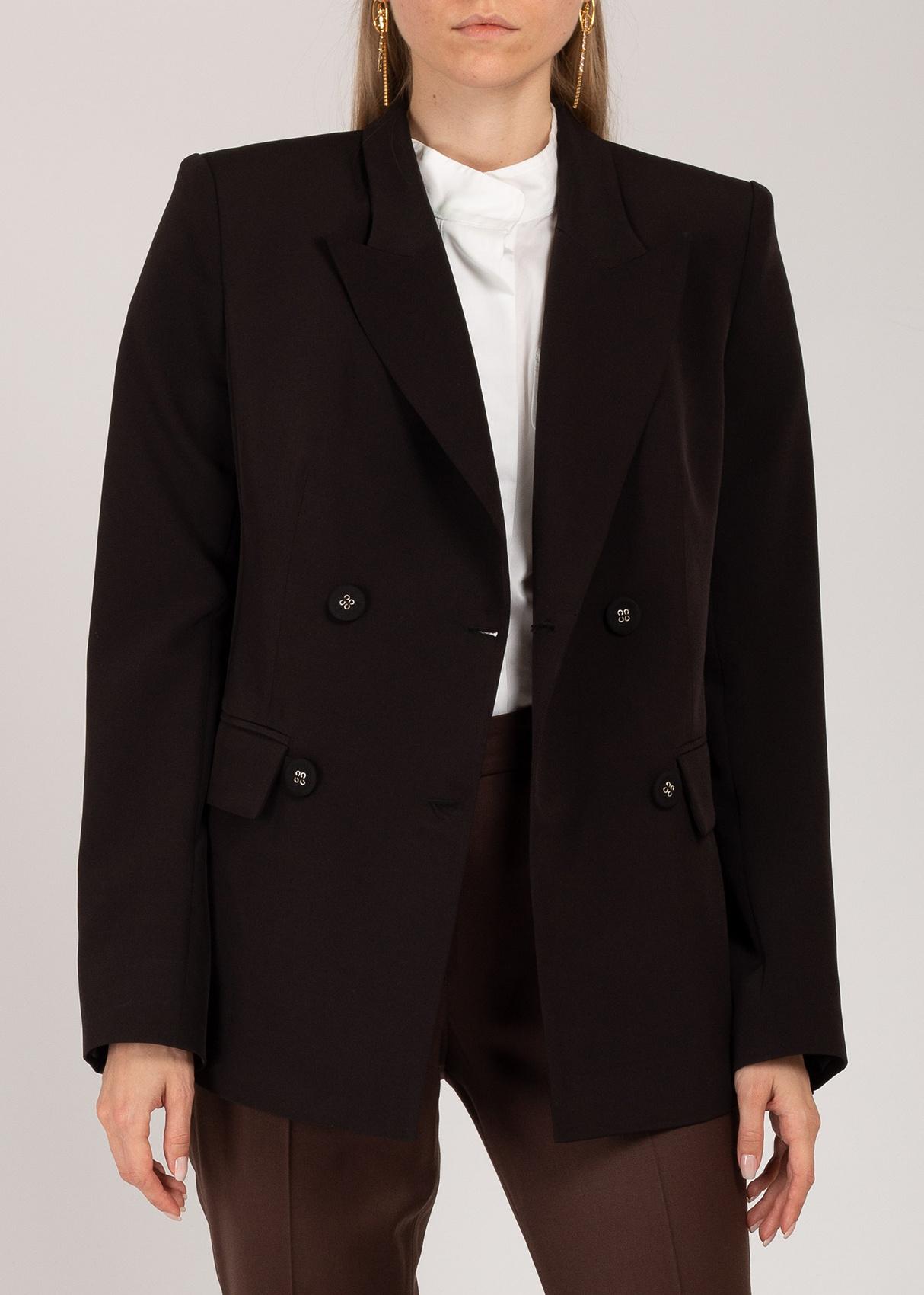 Пиджак Iva Nerolli черного цвета с широкими плечами
